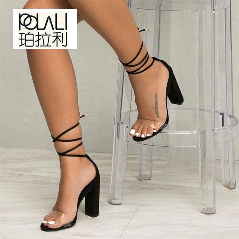 POLALI schuhe Frauen Sommer Schuhe T-bühne Mode Tanzen High Heel Sandalen Sexy Stiletto Party Hochzeit Schuhe Weiß Schwarz 2258W