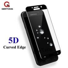 5D pełna ochrona telefonu szkło do Samsung Galaxy A3 A5 A7 2017 A7 2018 A50 A30 A40 A10 do Samsung Galaxy j5 j3 J7 2017 szkło