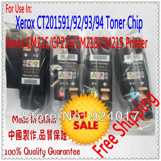Cartucho de tóner para Xerox CP215 CM215 CP CM 215, tóner de repuesto para impresora Xerox DocuPrint CP215w CM215b CM215f CM215fw, 4 piezas