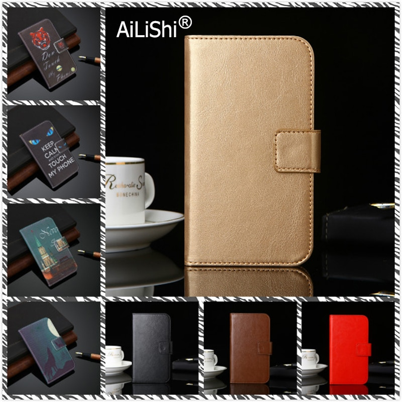 AiLiShi Leather Case For Gooweel S10 S9 S8 S7 M5 Pro M13 Plus M15 4G PU Flip Cover Skin Wallet With Card Slots Gooweel Case