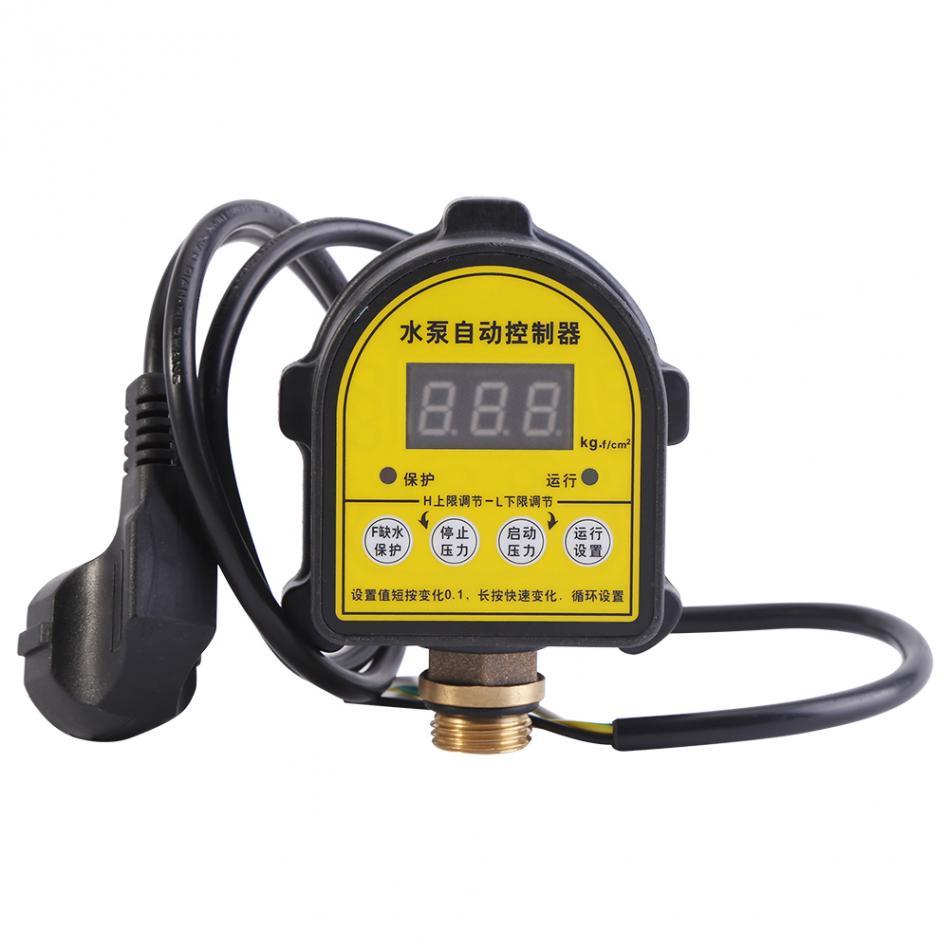 Pompe à eau numérique LCD 220V   Interrupteur de contrôle de pression, contrôleur de pression électronique automatique, pompe à eau sur interrupteur