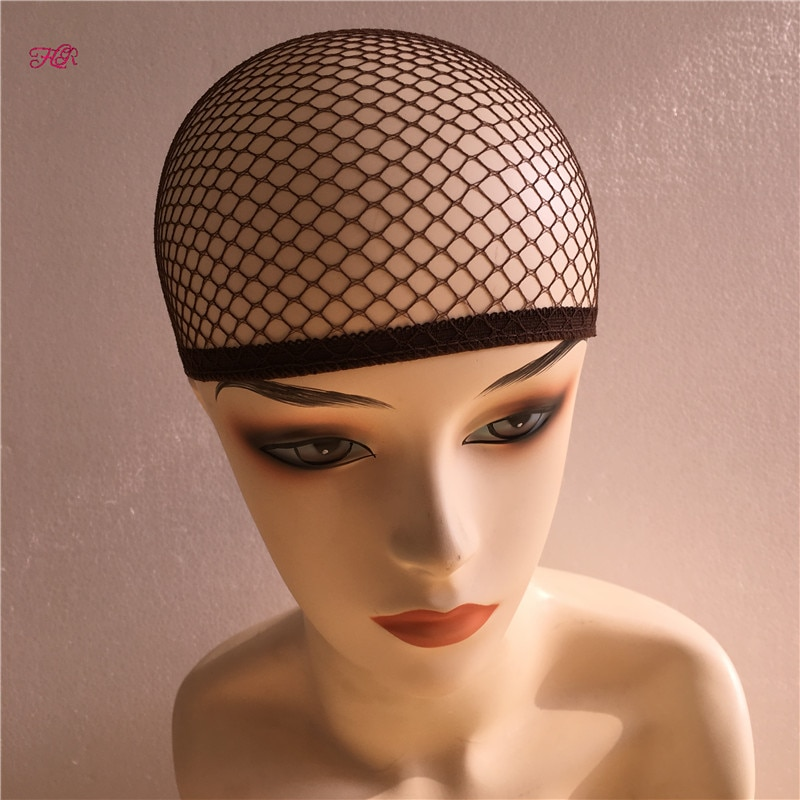 Fish Hairnets 6-500pcs Soft Wig Cap Black Hair Weaving Cap High Stretchable Elastic HairNets With Top Closed For Wig Making Caps