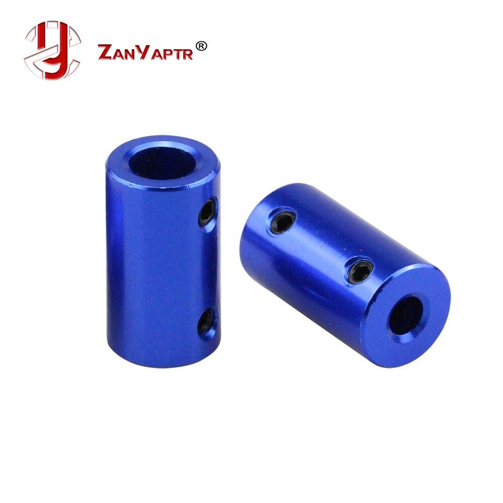 Nuevo acoplador de aleación de aluminio azul de 5*8mm 5*5mm D14 L25 5mm a 8mm 5 a 5mm eje para acoplamiento del modelo del eje del Motor