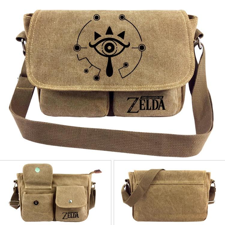 link Zelda Logo Fashion Anime Canvas Shoulder Bags Soft Tote Messenger Handbag Casual Shopping Bag Lady Girls New