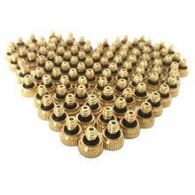 20 unids/lote sistema de refrigeración para exteriores boquillas de latón para nebulización 0,1/0,2/0,3/0,4/0,5/0,6/0,7mm