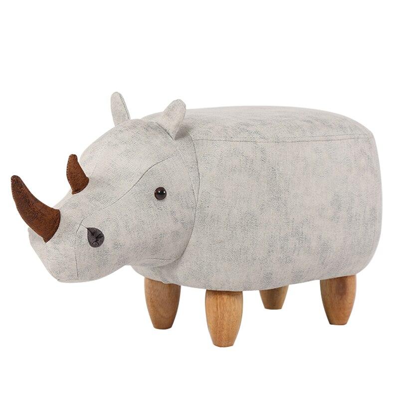 Creative Shoes Bench Rhinoceros Storage Solid Wood Footstool  Sofa Stool Storage Fashion Shoes Low Stool недорого