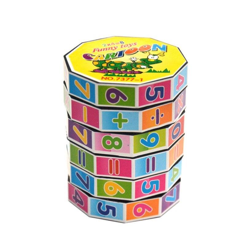 Novo Jogo de Puzzle Brinquedos Educativos Para Crianças Inteligentes Digital Cube Matemática Para Crianças Crianças Matemática Números Cubo Mágico Brinquedo j2