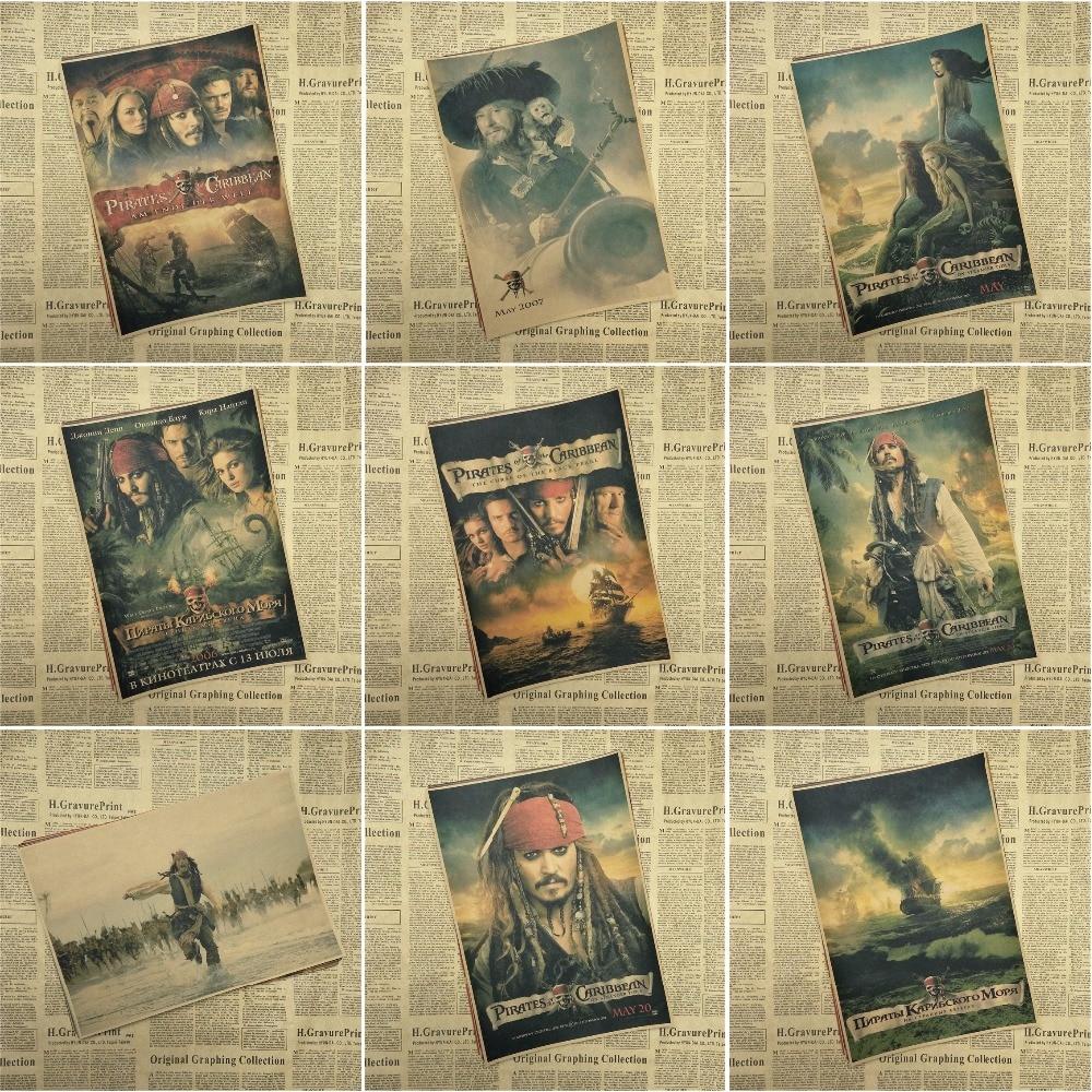 Fluch der Karibik Captain Jack Sparrow Johnny Depp Poster retro bar dekorative malerei kraft papier
