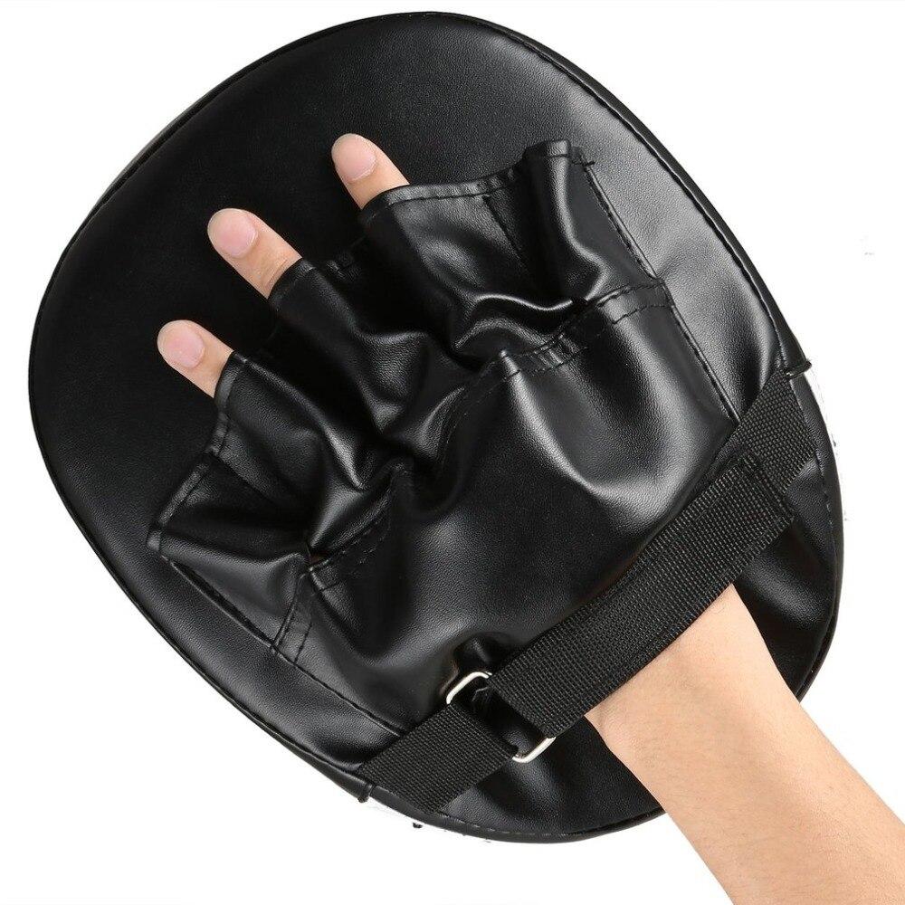 Sanda-guantes de boxeo con almohadillas, almohadilla de mano para el objetivo de Muay Thai, manoplas de golpeo con Centro, guante de Karate, guante de Taekwondo MMA de espuma, Boxer de entrenamiento en rojo y negro