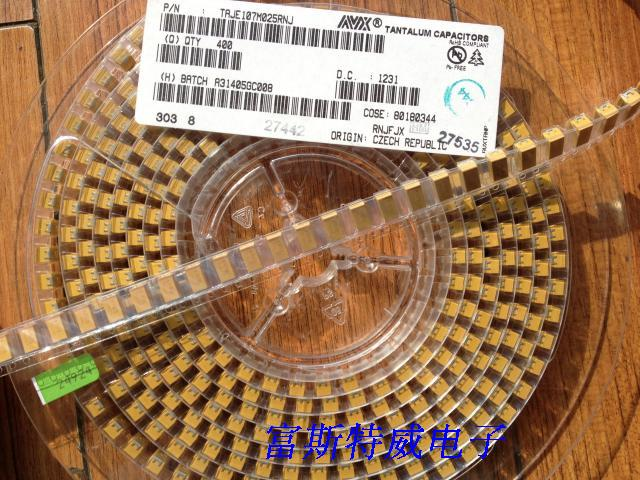100 unids/lote condensadores de tantalio SMD 157J 6 V 6,3 V 150 UF B 3528/1210 tipo B capacitores de tantalio