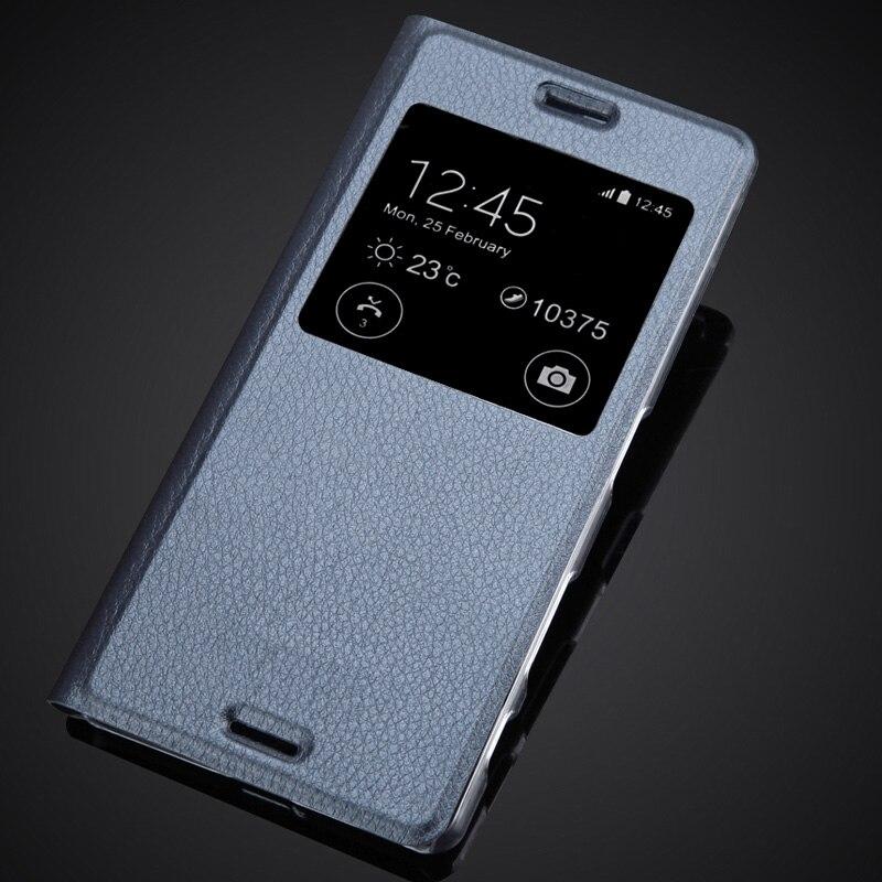 Pour Sony Xperia X F5122 F5121 X double vue fenêtre étui en cuir PU Flip couverture luxe téléphone étui sac de téléphone Mobile