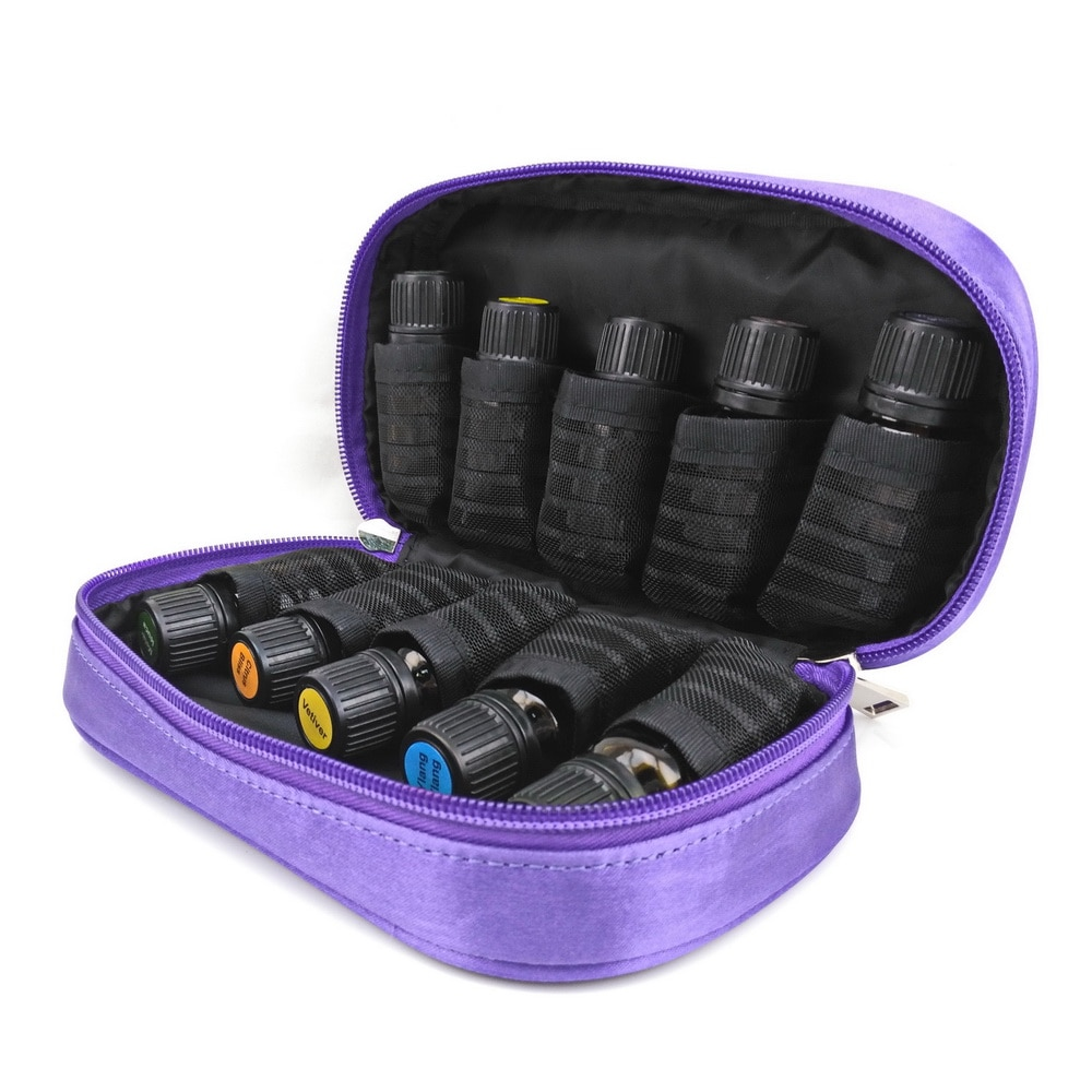 Travel Portable Double Zipper Essential Oil Carrying Case Pouch Holds 10 Roller Bottles 5ml 10ml 15ml doTERRA Young Living Bag недорого