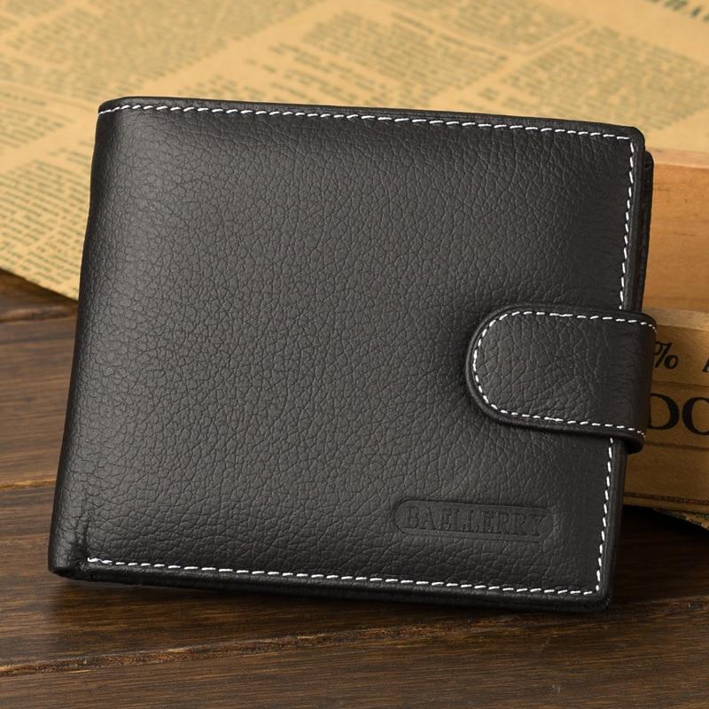 Cartera con bolsillo para monedas, billeteras de alta calidad para hombre, cartera multifunción de cuero, Cartera de marca para hombre