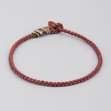 Love Lucky Charm Bracelets & Bangles For Women Tibetan Buddhist Hand Braided  Knots Black Silver Color Rope Bracelet Men