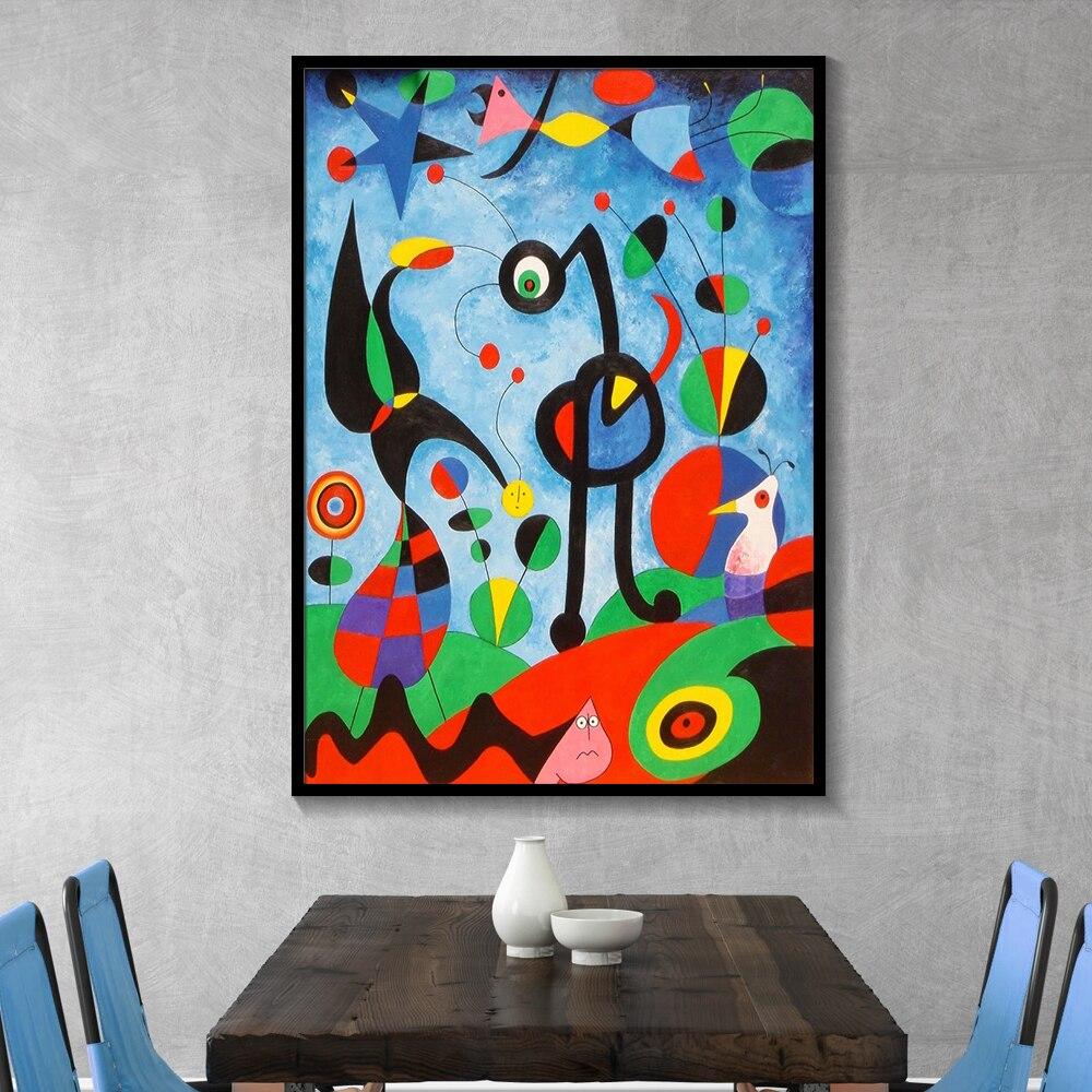 Joan Miro абстрактные акварельные настенные художественные плакаты и принты, известная картина на холсте для гостиной, украшения дома