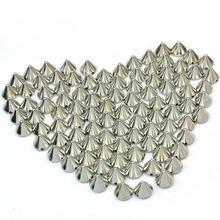 100 pièces 10mm argent/or/pistolet noir en plastique goujon Rivet pointes artisanat sac Punk maroquinerie bricolage accessoires vêtement décoration