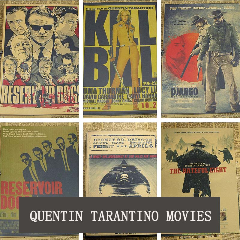 Cosy moment Inglourious Basterds/Django desencadenado/depósito/perros matar a Bill Quentin Tarantino películas cartel Vintage QT365