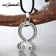Cxwind Troll croix charme collier rétro Folklore Vikings Protection païen symbole Runes amulette nordique pendentifs colliers bijoux