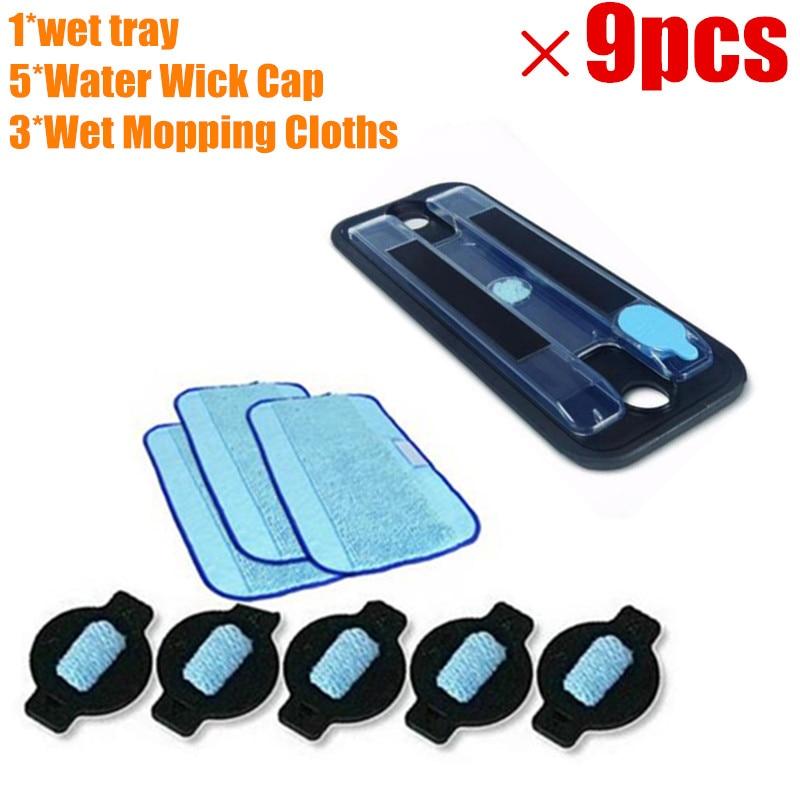 1 * оригинальный влажный лоток + 3 * влажная Pro-Clean Салфетка Для Мытья Полов + 5 * Крышка для воды для iRobot Braava 380 380t 5200 Mint5200C 4200A 4205