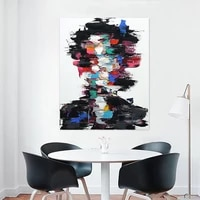 mutu modern abstract portrait painting wall art oil painting canvas print and posters the picture for living room no frame