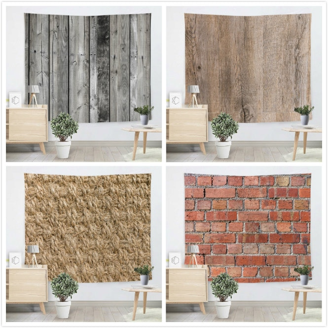 Creative Bricks Wooden floor Tapestry Beach Throw Mat Yoga Rug Wall Hanging Gobelin Livingroom Bedding Home Decor