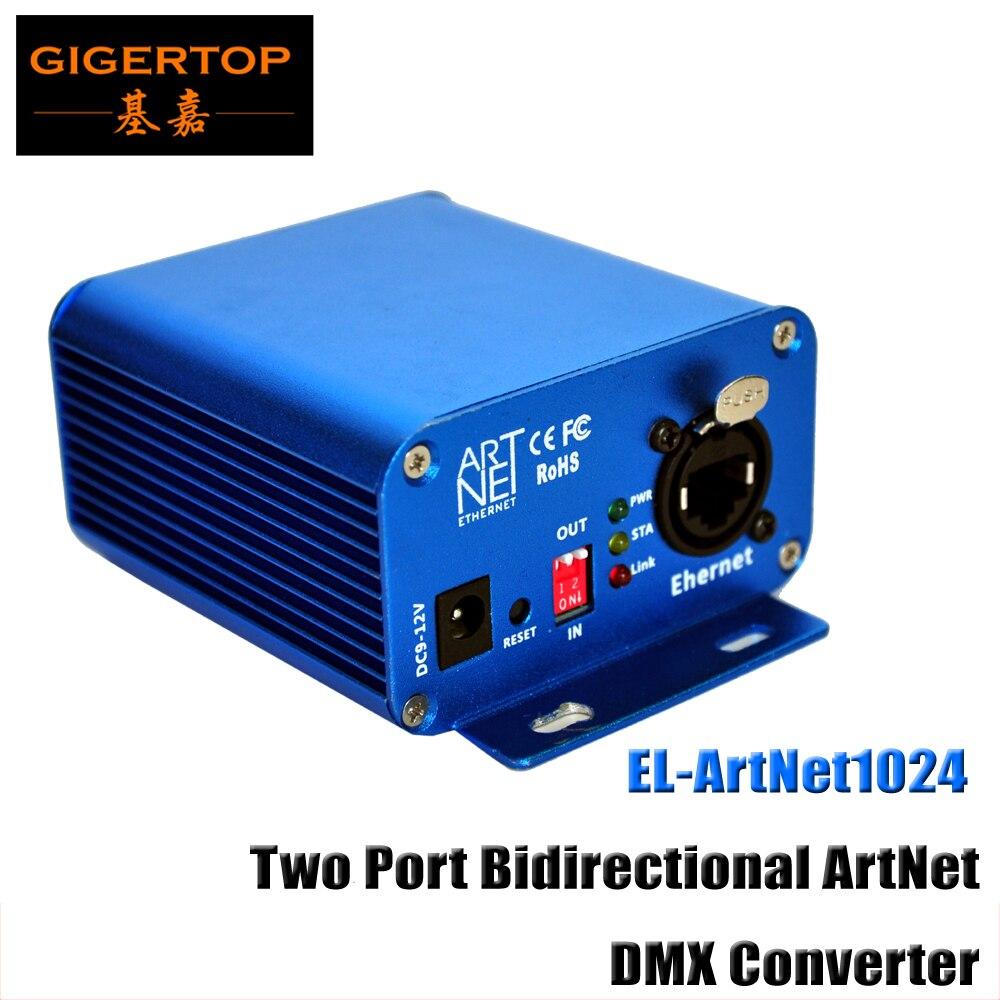 TP-D15 Lan 512 EL-ArtNet1024 Two Port Bidirectional ArtNet/DMX Converter Box High-speed ARM Processor Standard ArtNet Protocol