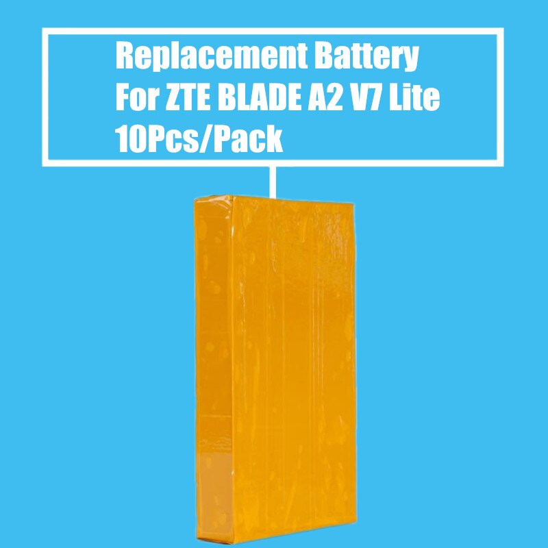 Yeni Varış 10 adet/paket Yedek Pil 2500 mah için ZTE Blade A2 V7 Lite Cep Telefonu Yüksek Kalite