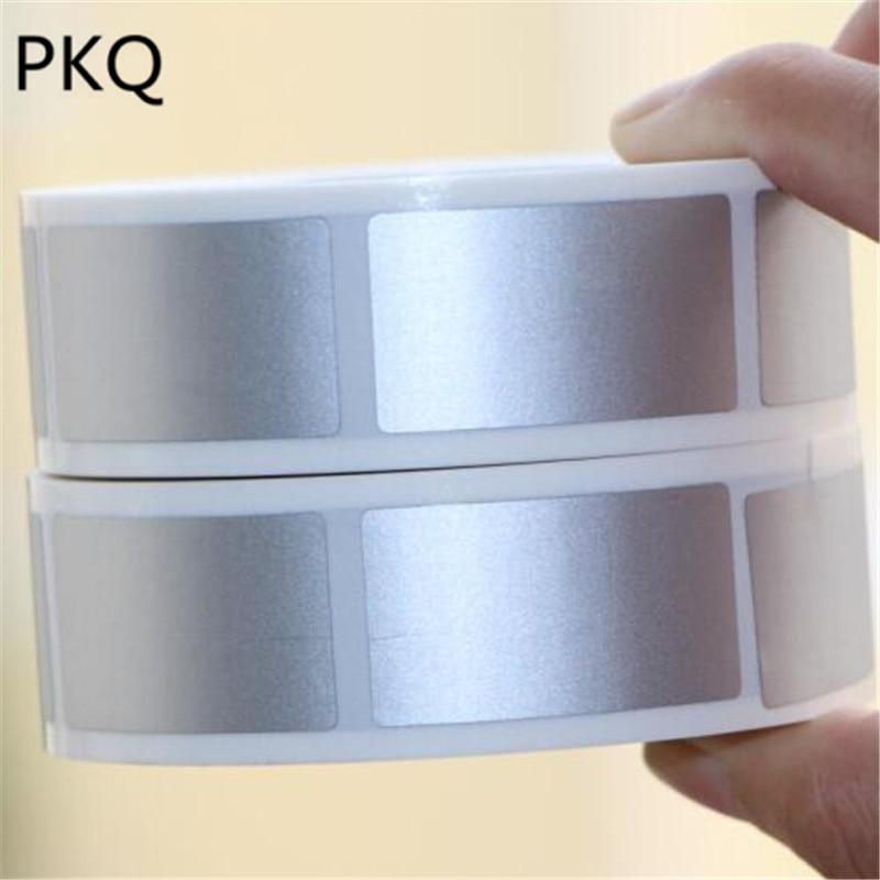 23x4 2mm/25x25mm pegatinas de rascar adhesivas plateadas DIY cinta de etiquetas manual hecha a mano rayada Tarjeta de película