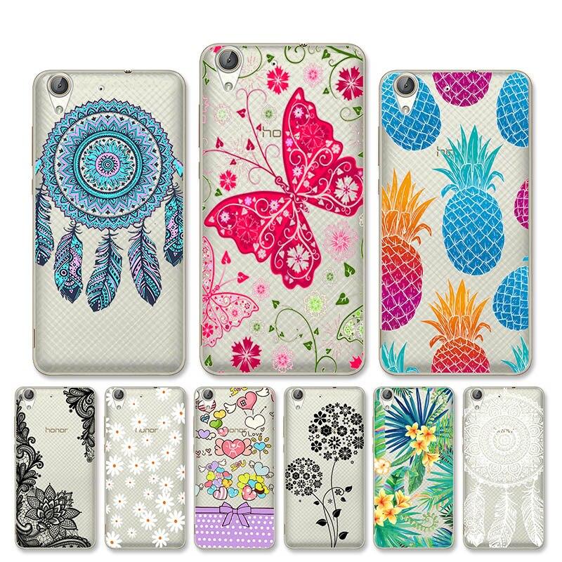 Para Huawei Y6 II teléfono caso claro cubierta Huawei Y6 2 Honor Holly 3 CAM-L21 CAM-L32 CAM-L03 CAM-L23 Honor 5A jugar Shell