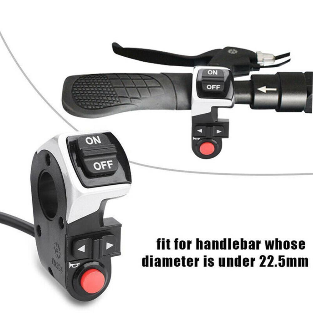 3 em 1 para scooter e-bike frente lâmpada sinal transformar luz bicicleta elétrica interruptor novo