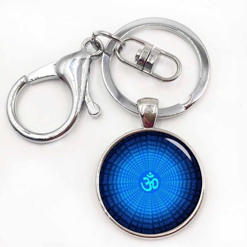 Брелок для ключей Om Ohm Aum Namaste символ йоги очаровательный яркий красочный брелок с логотипом om красивый женский ювелирный подарок в индийском стиле