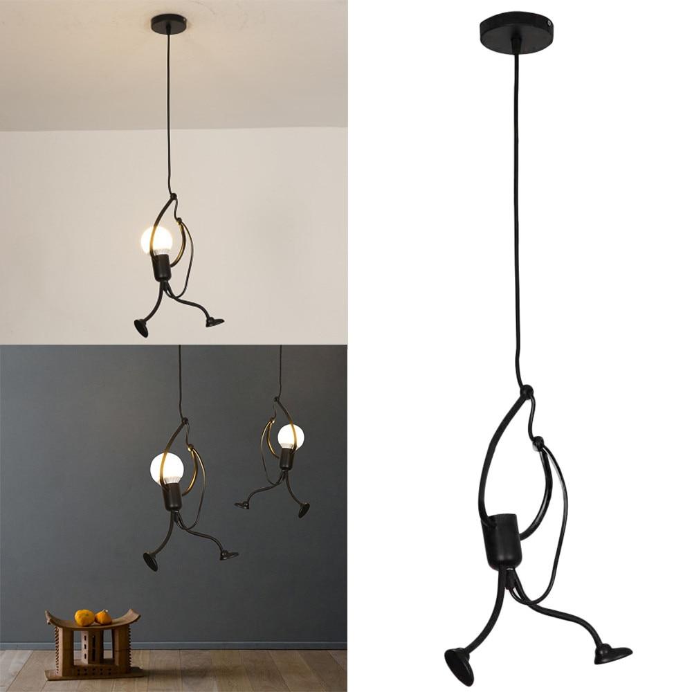 Modern Charming Hanging Chandelier Creative Iron People Lamp Elegant Hanger Luminaire Adjustable Height#sw