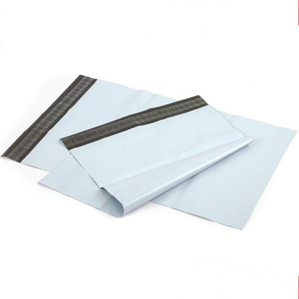17*26 + 4 cm 100 قطعة/الوحدة البريد السريع الارسال الحقيبة لينة البلاستيك بريدية حقيبة الأبيض بولي البريدية تخزين التعبئة المغلف صريح