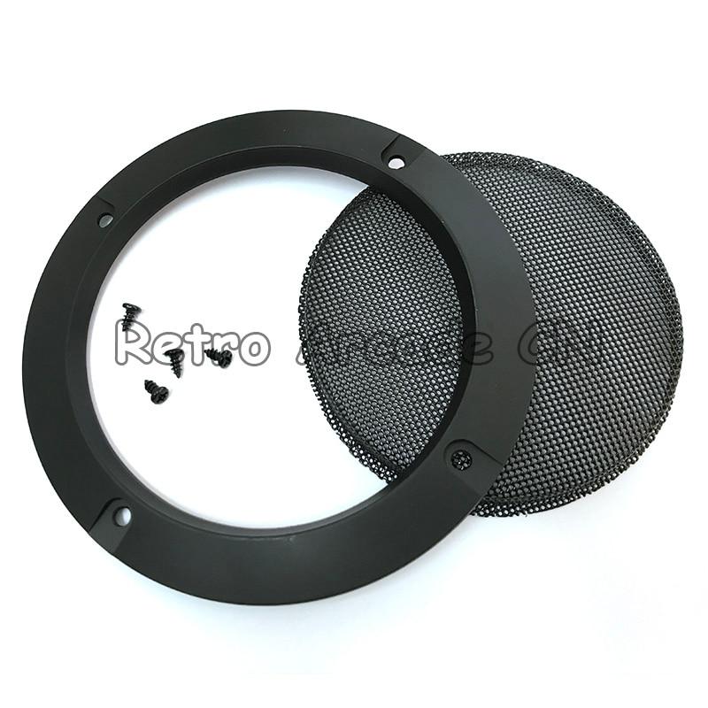 50 шт. оптовая продажа 4 дюймов 110 мм серебристый/черный динамик гриль Чехлы спикер