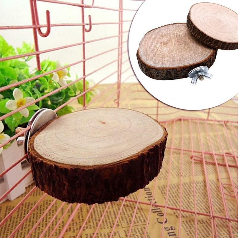 Juguete para masticar con forma de loro y Ave, colgante de madera columpio, jaula para pájaro, juego de coser, producto para mascotas