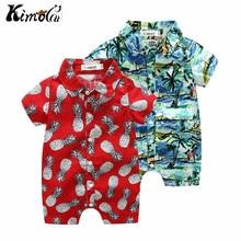 Kimocat-ensemble manches courtes   Chemise dété bébé garçon, beau, manches courtes, coton imprimé ananas