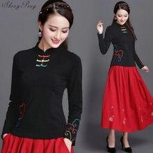 Cheongsam top traditional chinese clothing women tops womens long sleeve tops Q613