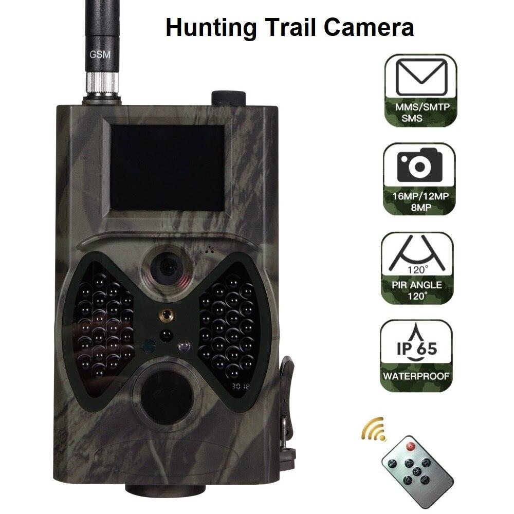 16MP MMS/SMTP/SMS كاميرا تعقب للرؤية الليلية 1080P كاميرات الحياة البرية الأشعة تحت الحمراء مراقبة الصيد الكاميرات البرية HC300M