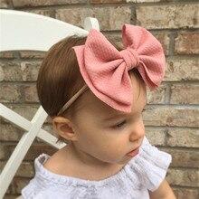 Baby mädchen stirnband Infant haar zubehör tuch Tie große bögen Headwear tiara Geschenk Kleinkinder verband Band neugeborenen headwrap