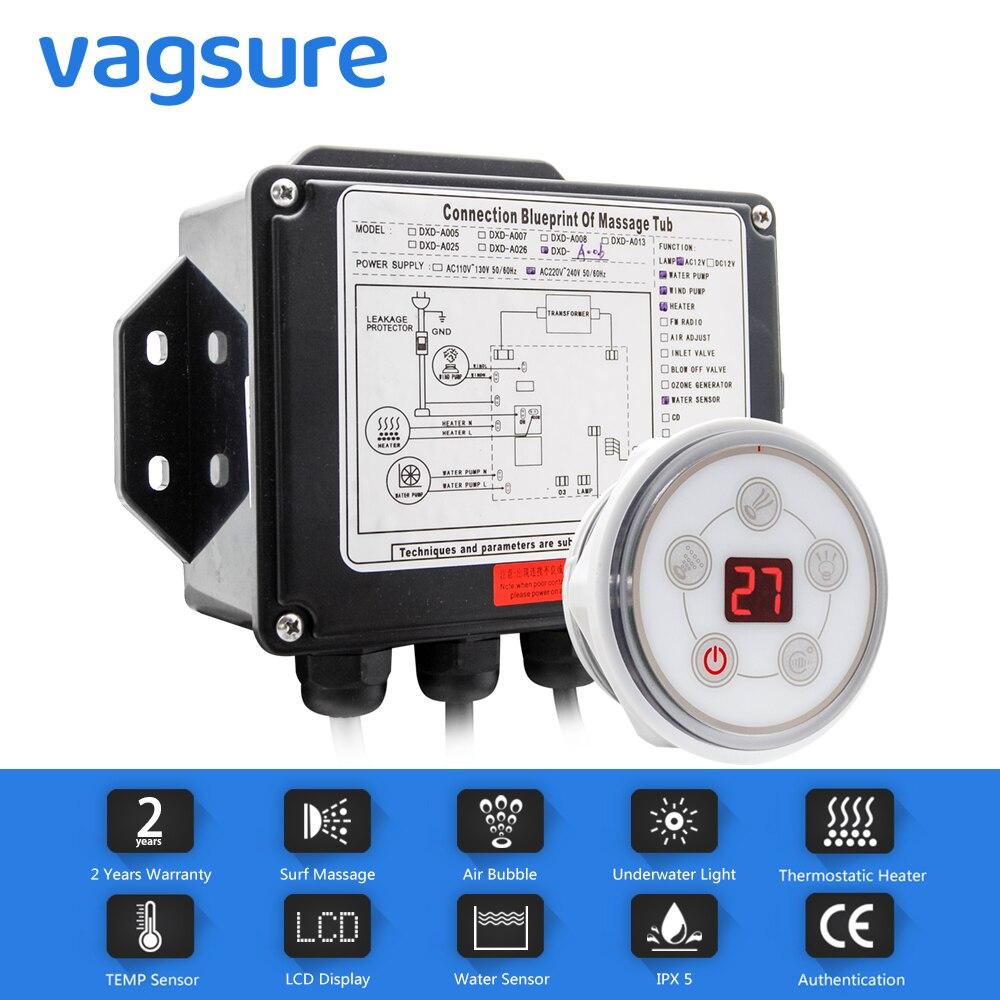Vagsure 1 комплект AC 110В/220В цифровая панель управления с ЖК-экраном спа комбо водный воздушный массаж ванна джакузи контроль Лер наборы