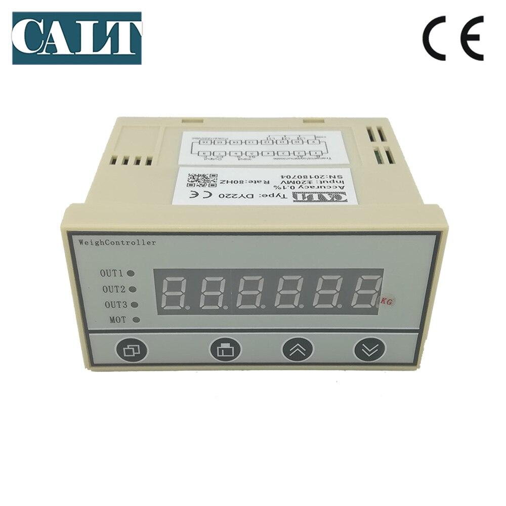 وحدة تحكم في شاشة الحمل DY220 ، مرحل طرفي للوزن rs485 4-20mA ، مؤشر وزن اختياري