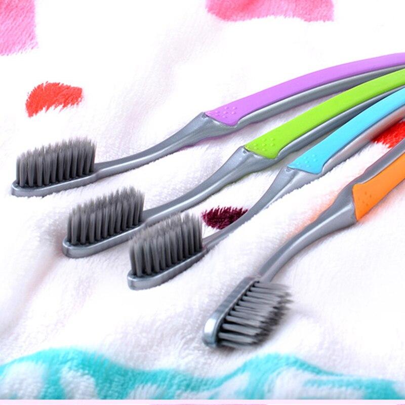 1 pieza de carbón de bambú cepillo nano doble ultrasuave negro cabezas de cepillo de dientes Dental Cuidado Oral Personal cepillo de dientes