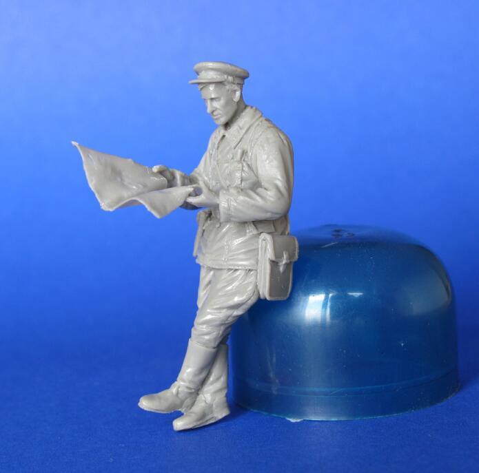 Montaje sin pintar escala 1/35 tanque soviético stand Ver figura del mapa resina histórica Kit de miniaturas de Modelismo