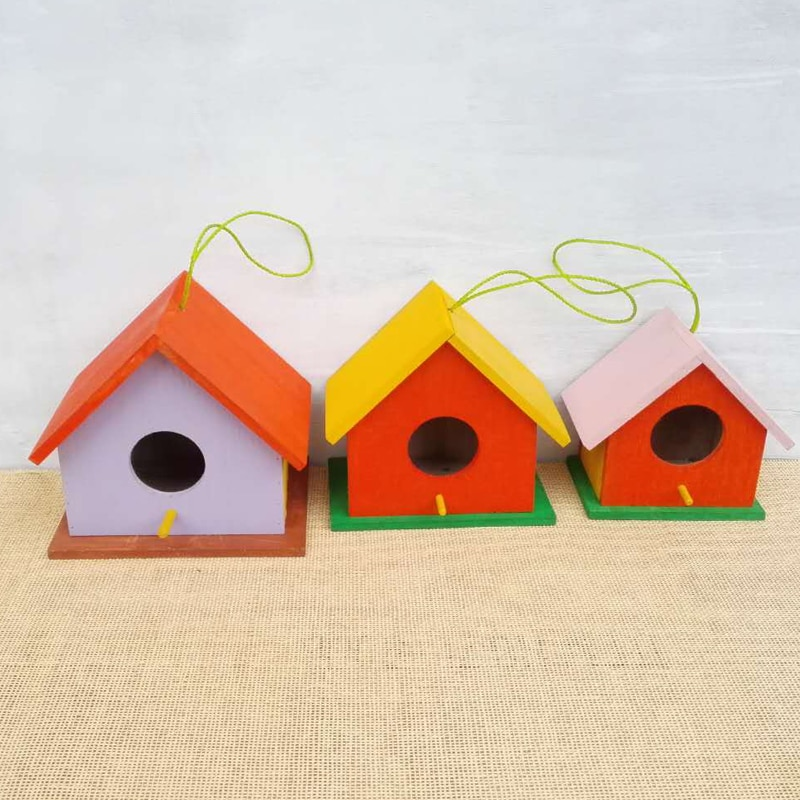 Boîte à oiseaux en bois massif   Hirondelle, maison en plein air, nid délevage, nid délevage, perroquet, maison