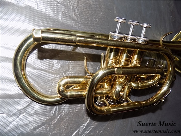 Bb Cornet trumpet Brass musical instruments with Hard Case and mouthpiece Lacquer Trompeta enlarge
