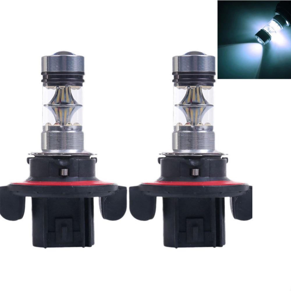 H13 9008 Nebel Lampen 100W Weiß 6500K 12V Auto LED Licht 20 SMD Projektor Objektiv Lampe DRL tagfahrlicht Driving Auto Lampe