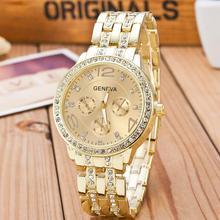 2020 새로운 유명 브랜드 골드 크리스탈 제네바 캐주얼 쿼츠 시계 여성 스테인레스 스틸 드레스 시계 Relogio Feminino 남자 시계 뜨거운