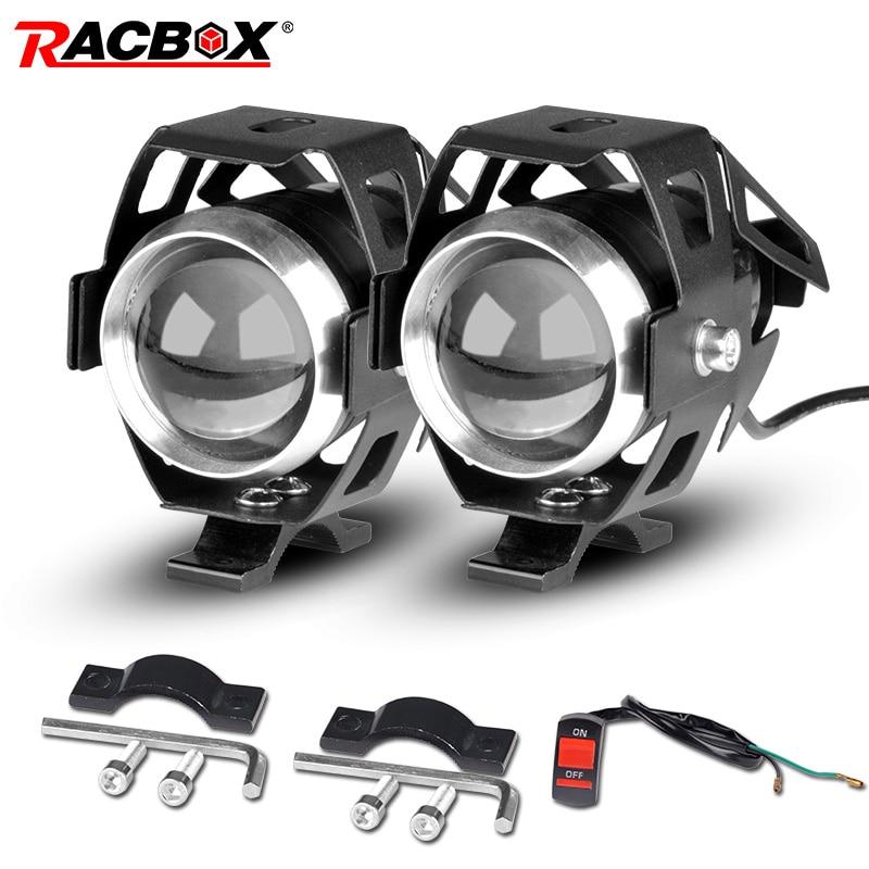 Moto rcycle faróis u5 led moto luz drl farol moto rbike auxiliar lâmpada de nevoeiro holofotes universal 12 v para suzuki