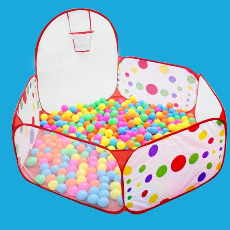 Barraca dobrável dos brinquedos das crianças para o oceano bolas de jogo do bebê bola piscina com cesta ao ar livre indoor jogo grande barraca para crianças bola pit
