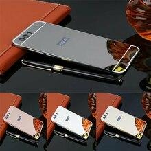 Pour Asus Zenfone 4 ZE554KL étui de luxe en métal miroir en aluminium + acrylique étui rigide pour Zenfone 4 ZE554KL